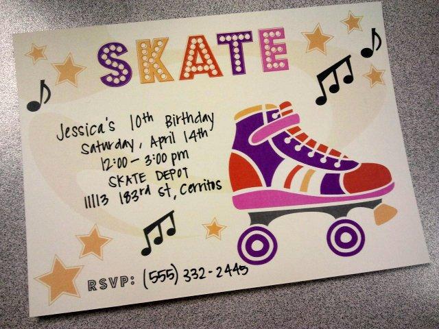 Free Printable Skating Party Invitations Unique River & Bridge Retro Roller Skate Party Invitation