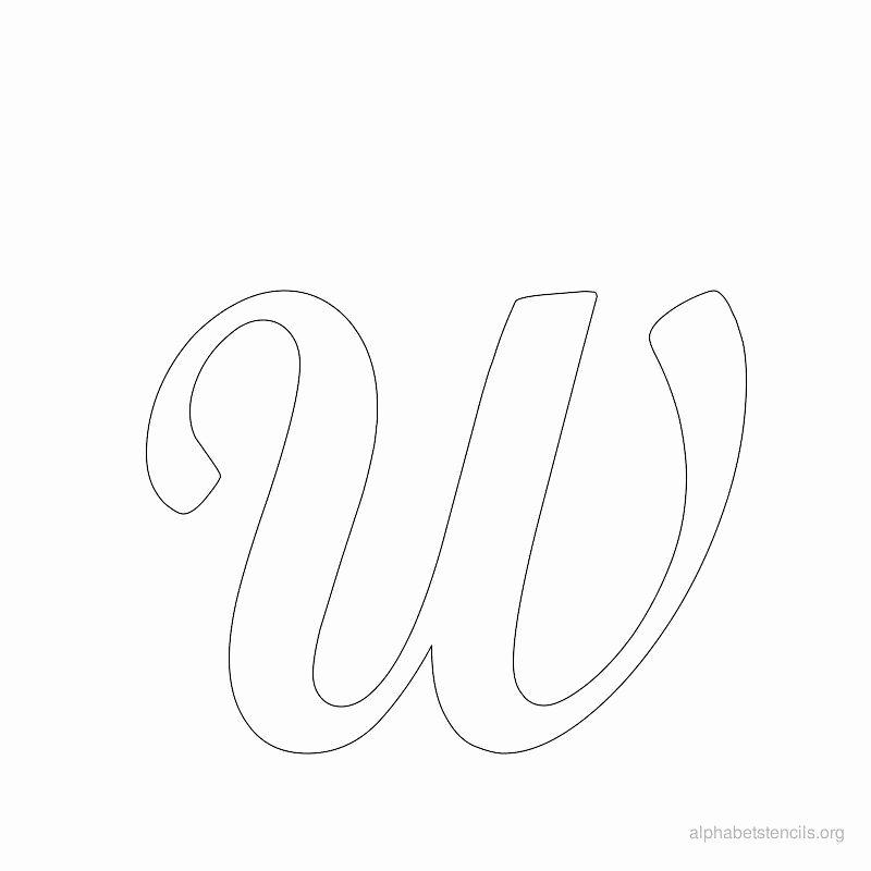 Free Printable Stencil Letters Elegant Print Free Alphabet Stencils Cursive W