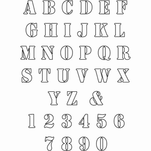 Free Printable Stencil Letters Fresh Free Patterns to Print Out