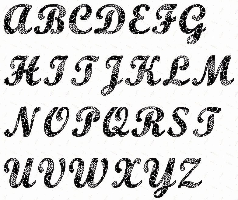Free Printable Stencil Letters Inspirational Alphabet Script 4 Inch Stencil