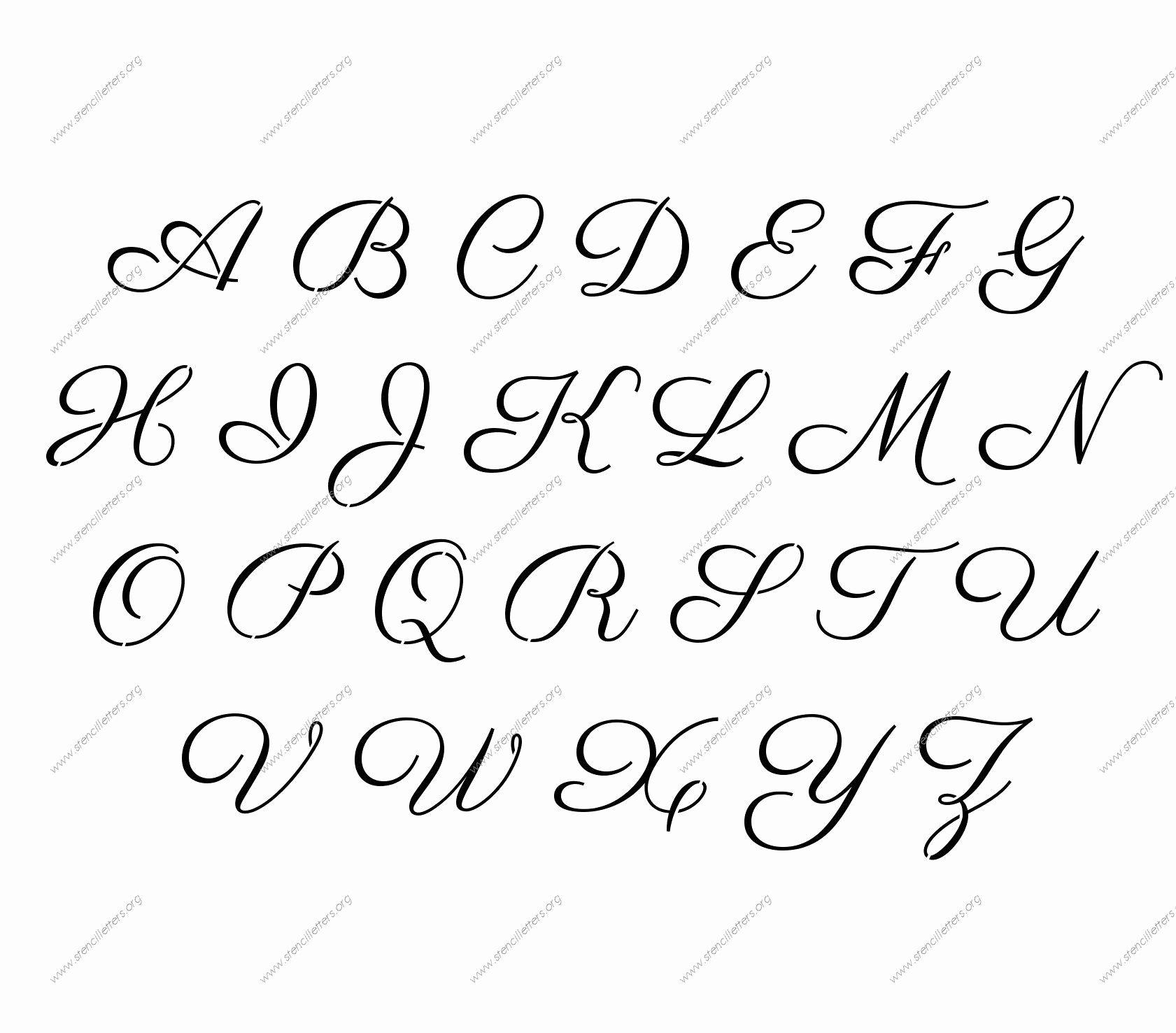 Free Printable Stencil Letters Unique Free Printable Alphabet Stencil Letters Template