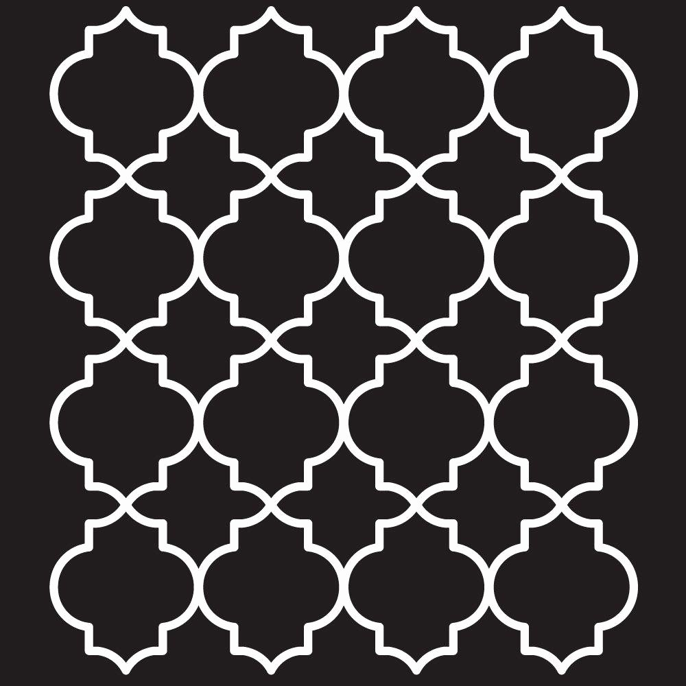 Free Printable Stencils for Painting Awesome Folkart Moroccan Tile Painting Stencils 4377 the Home Depot