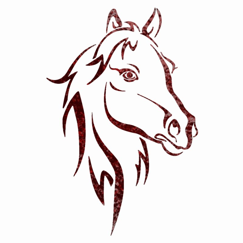 Free Printable Stencils for Painting Awesome Horse Head Animal Wall Stencils for Wall Art Decor