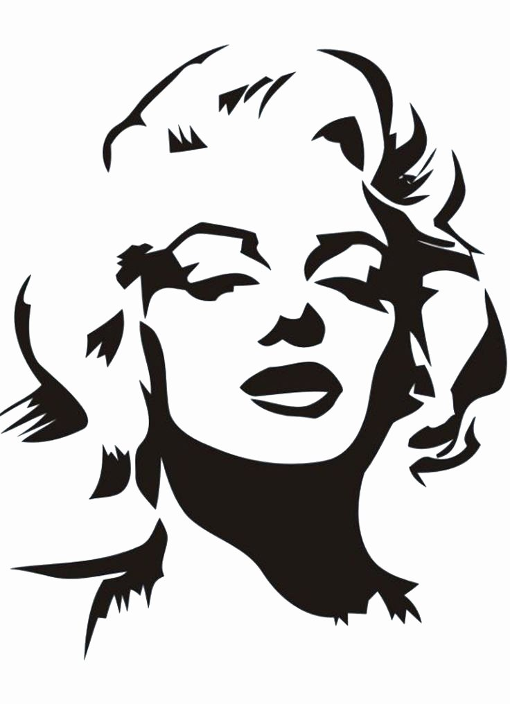 Free Printable Stencils for Painting Best Of Marilyn Monroe Stencil by Gulcin