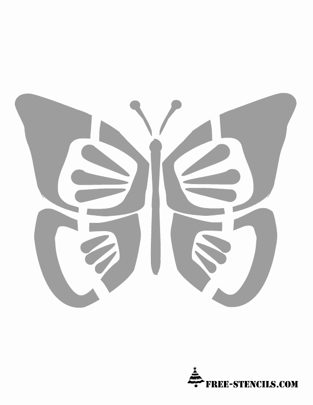 Free Printable Stencils for Painting Fresh Free Printable butterfly Wall Stencils