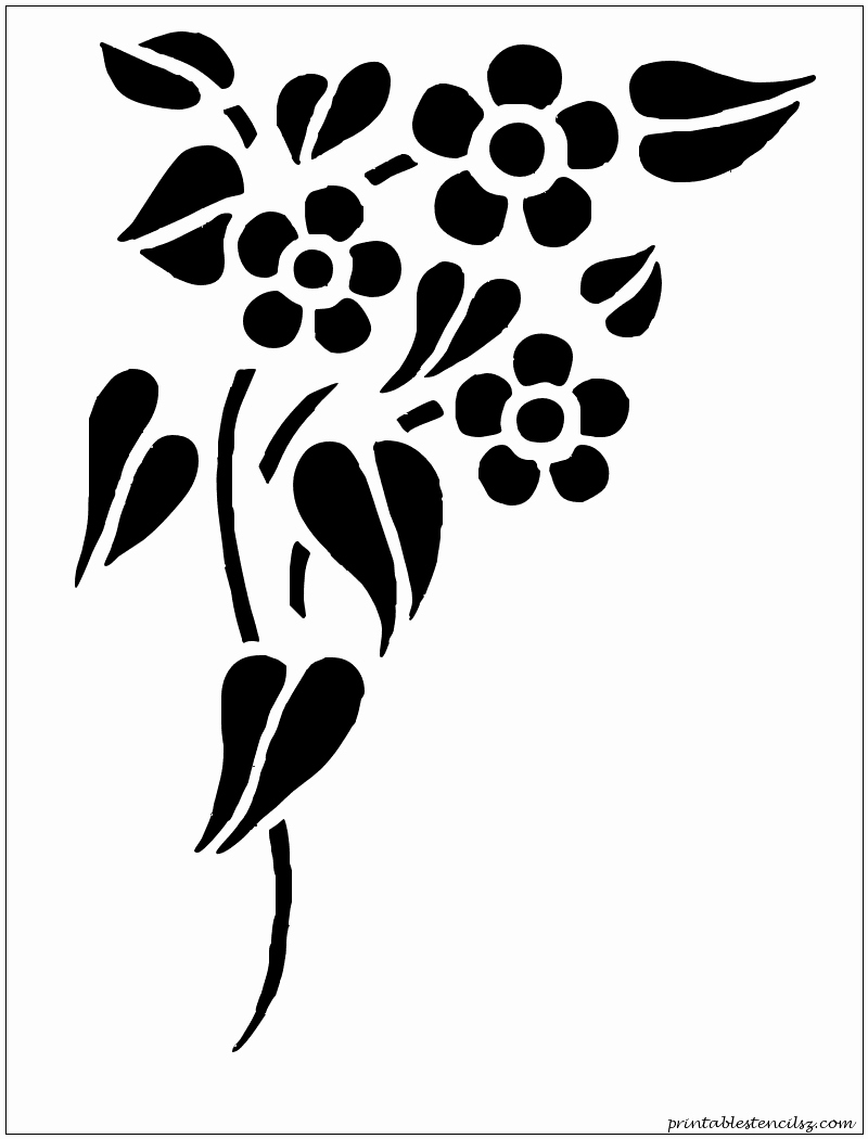 Free Printable Stencils for Painting Inspirational Flowers Printable Stencils Silhouettes