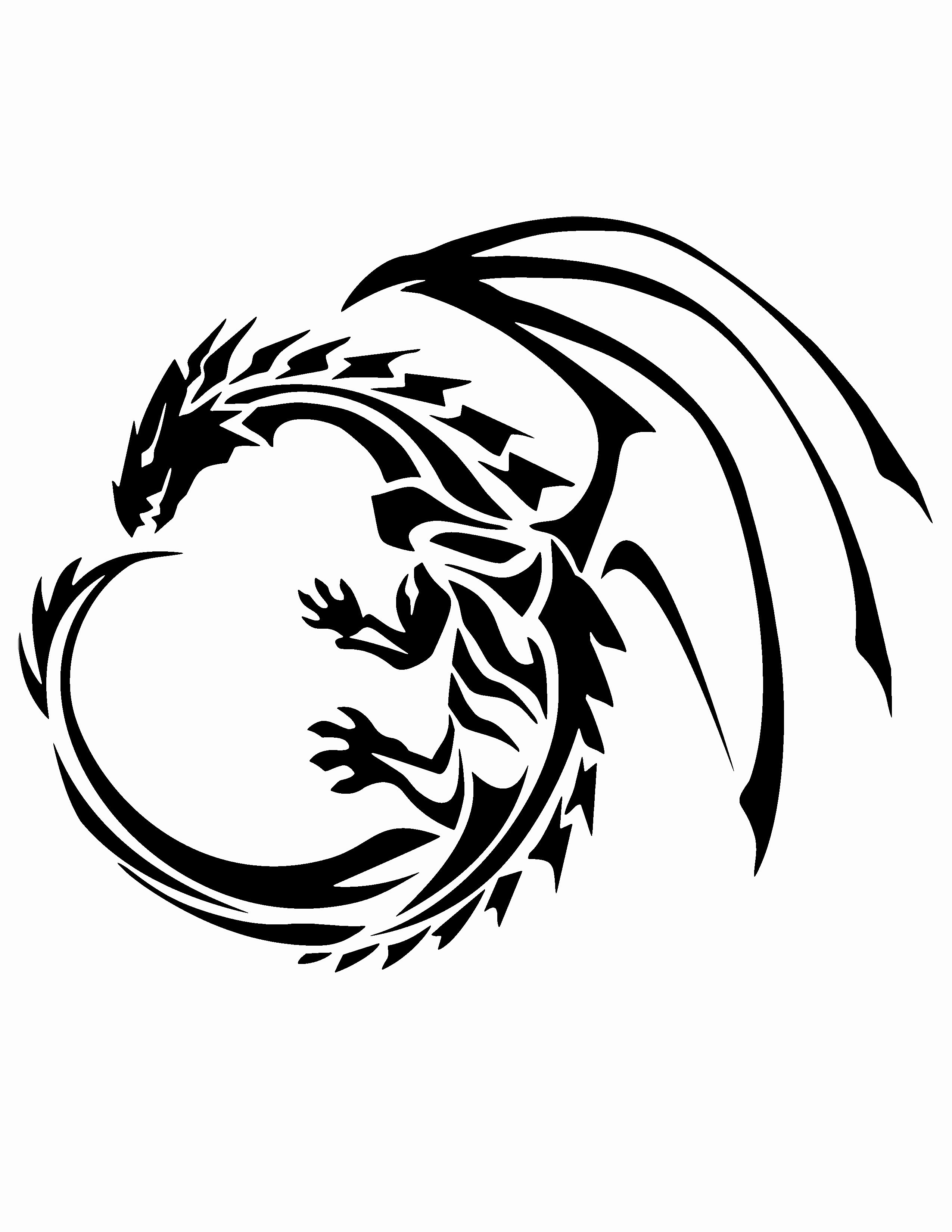 Free Printable Stencils for Painting Lovely Dragon Stencil Stencils