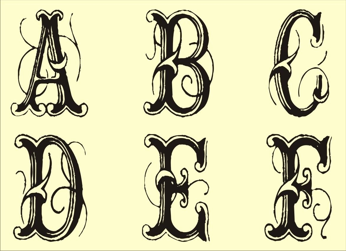 Free Printable Stencils for Painting Lovely Free Monogram Stencils Printable Tattoo Art