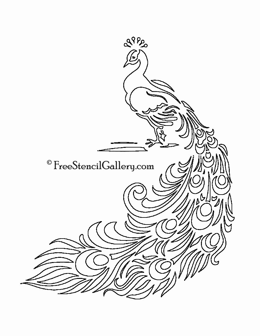 Free Printable Stencils for Painting Lovely Free Printable Peacock Template
