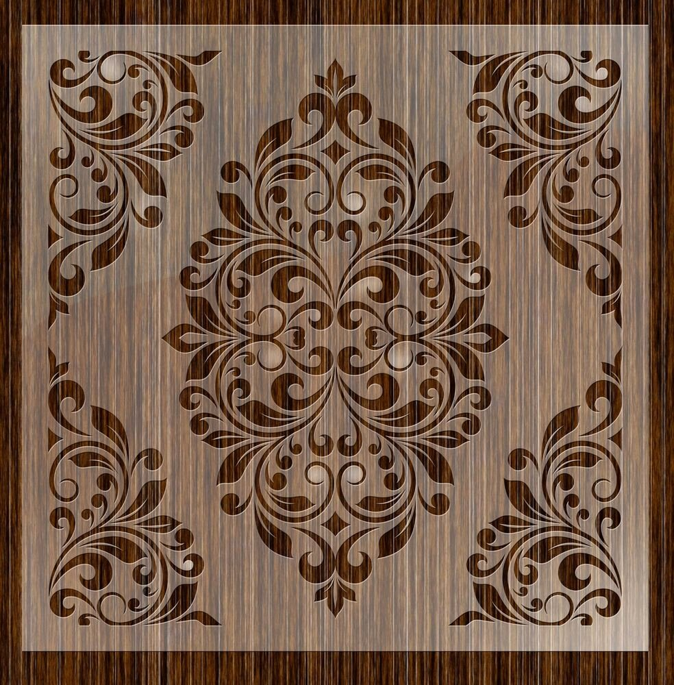 Free Printable Stencils for Painting Unique Fantasy Stencils 24 Damask Wall Stencils