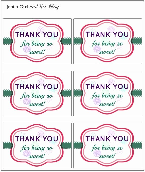 Free Printable Thank You Tags Awesome A Sweet and Simple Thank You Gift with Free Printable