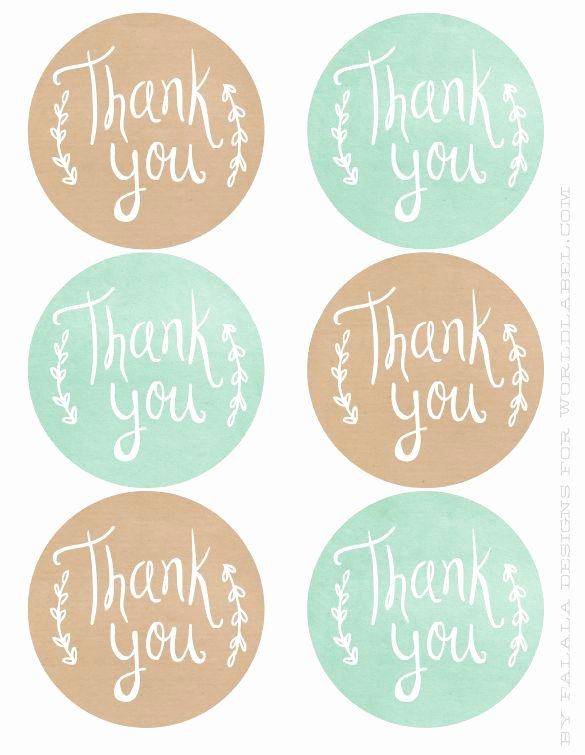 Free Printable Thank You Tags Awesome Printable Circle Thank You Tags Printable Pages