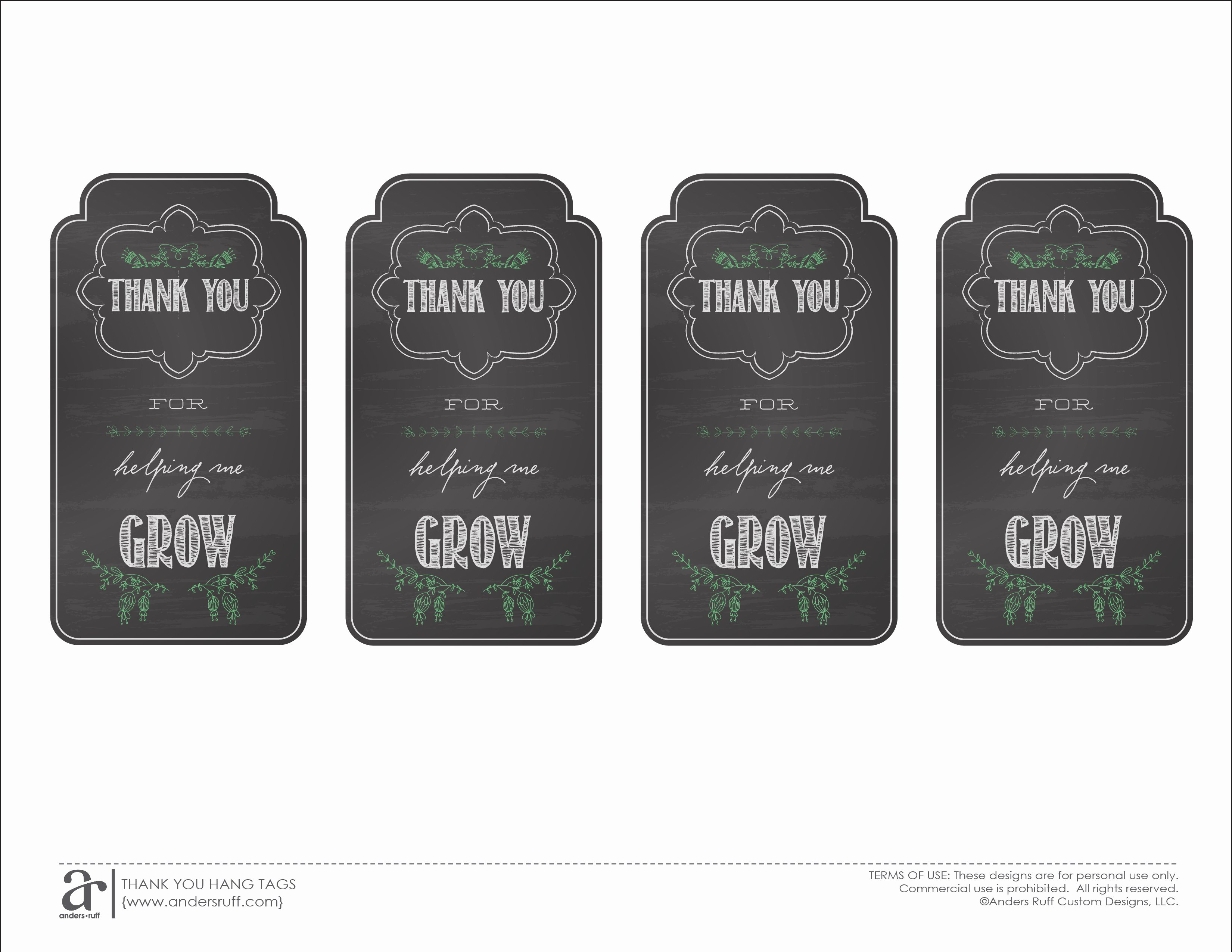 Free Printable Thank You Tags Elegant Ruff Draft End Of the Year Teacher Gift and Free