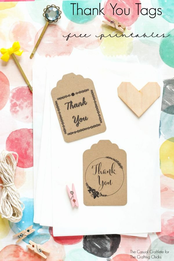 Free Printable Thank You Tags Elegant Thank You Tags Free Printables