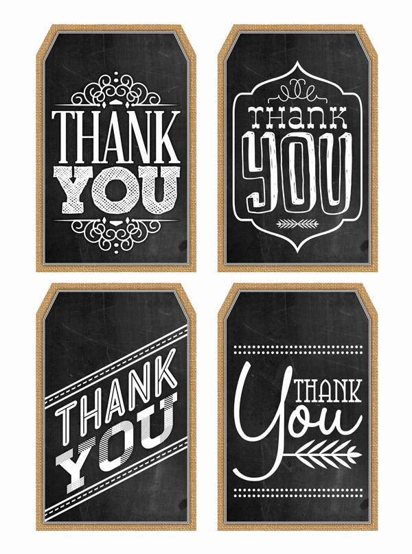 Free Printable Thank You Tags Lovely Free Printable Thank You Chalkboard Tags & A Happy