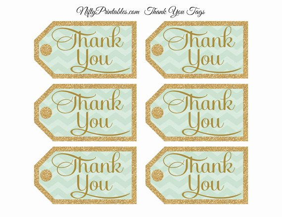 Free Printable Thank You Tags Luxury Mint Green Thank You Tags Chevron Rectangle Nifty