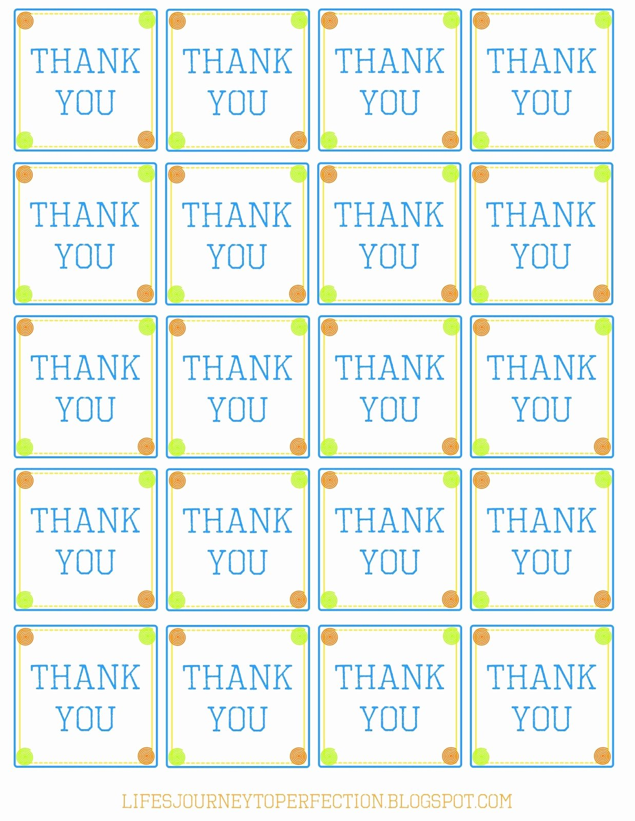 Free Printable Thank You Tags New Life S Journey to Perfection Thank You Baskets with Free