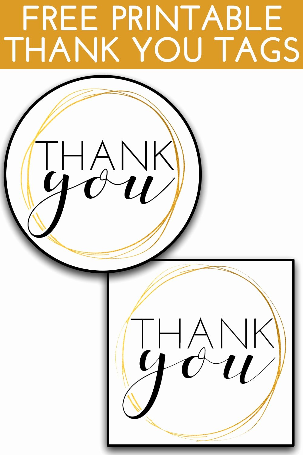 Free Printable Thank You Tags New Printable Thank You Tags