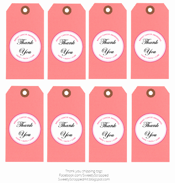 Free Printable Thank You Tags Unique Sweetly Scrapped Breast Cancer Awareness Free Printables