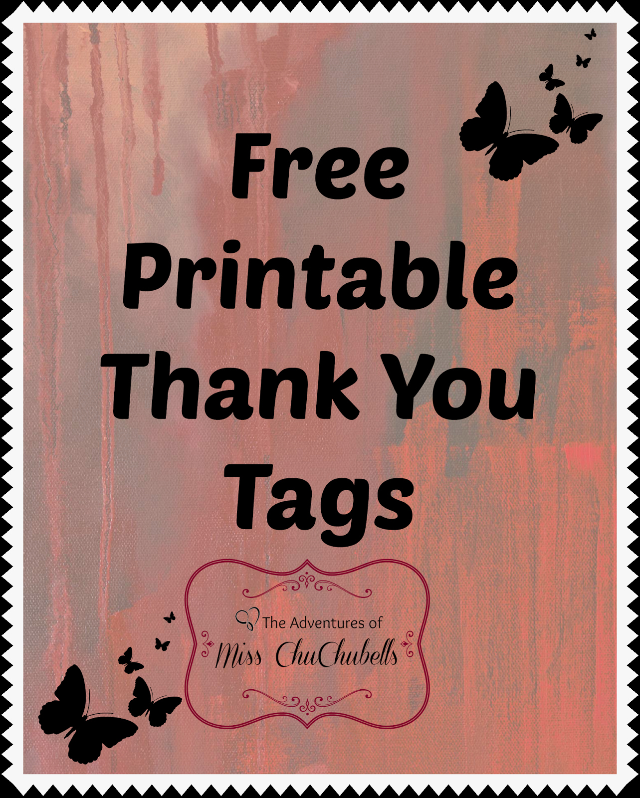 Free Printable Thank You Tags Unique the Adventures Of Miss Chuchubells Diy Projects Free