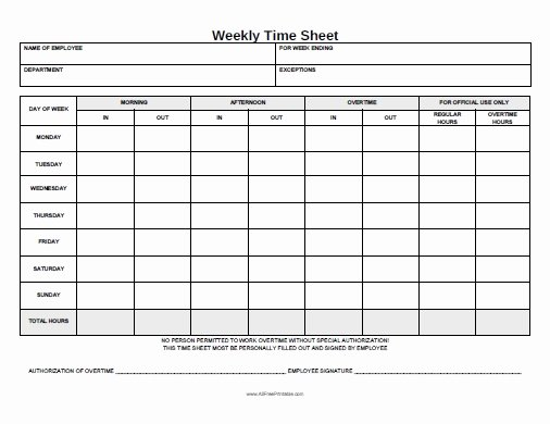 Free Printable Time Cards Awesome Weekly Time Sheet Free Printable Allfreeprintable