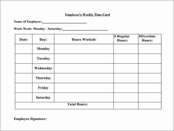 Free Printable Time Cards Best Of 15 Time Card Calculator Templates