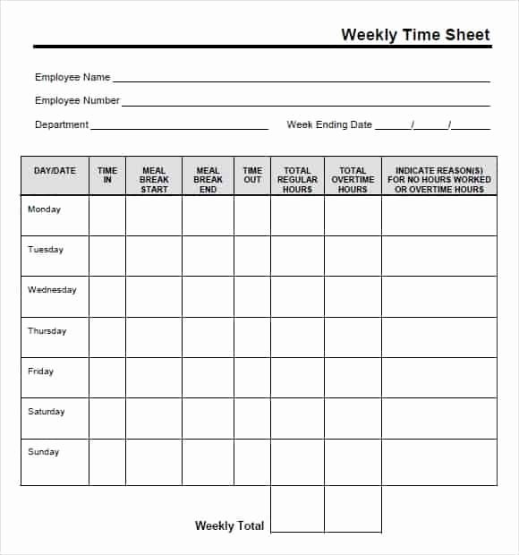 Free Printable Time Cards Fresh 9 Free Printable Time Cards Templates Excel Templates