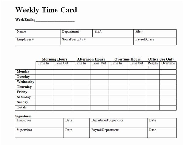 Free Printable Time Cards Unique 15 Time Card Calculator Templates
