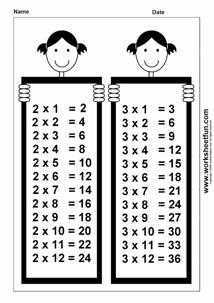 Free Printable Times Tables Worksheets Luxury 3rd Grade Math Multiplication Times Tables 1 S Printable