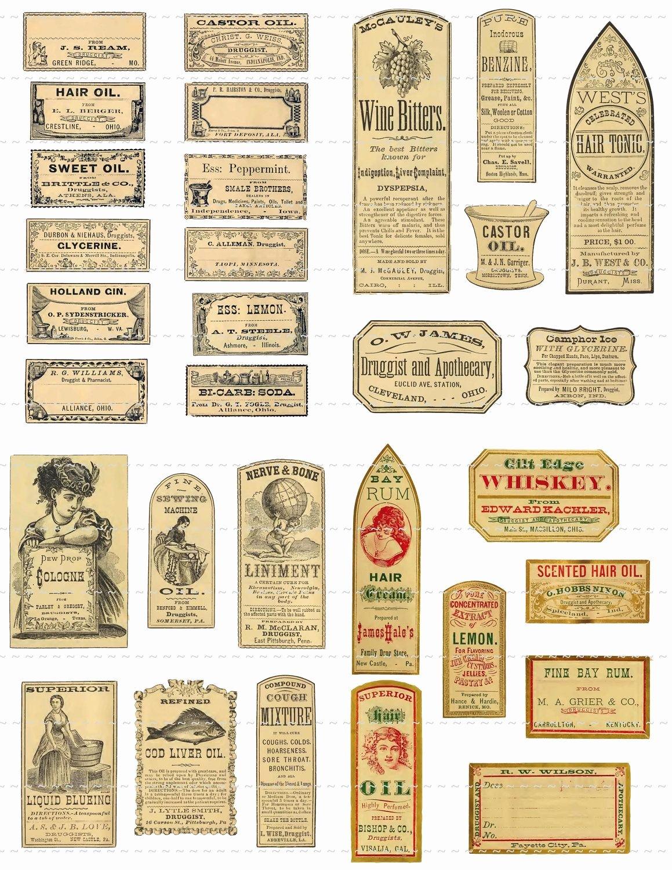 Free Printable Vintage Labels Best Of Digital Download Collage Sheet Antique 1800 S Vintage