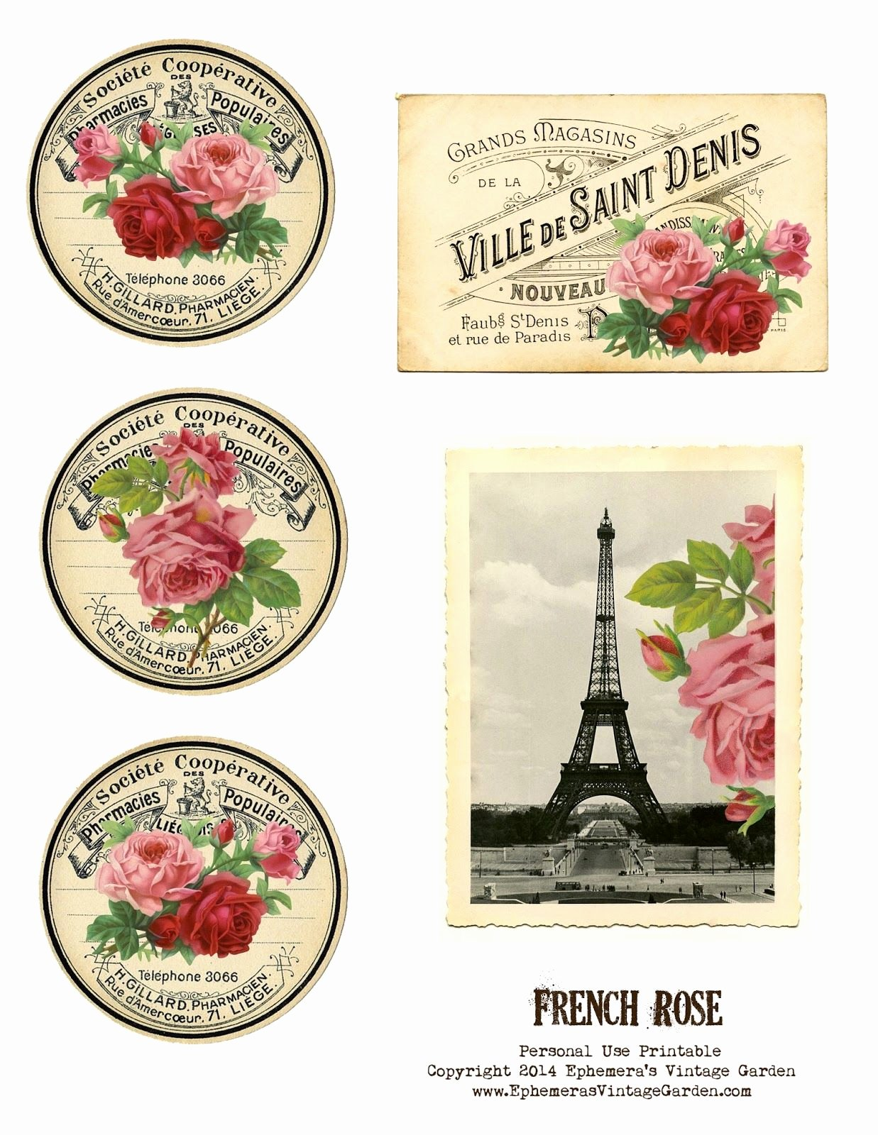 Free Printable Vintage Labels Best Of Vintage French Label Free Printable Roses
