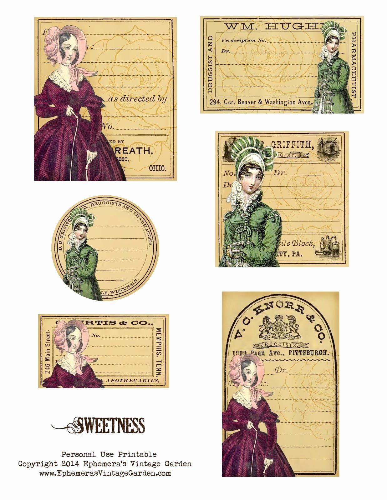 Free Printable Vintage Labels Luxury Ephemera S Vintage Garden Free Printable Sweetness