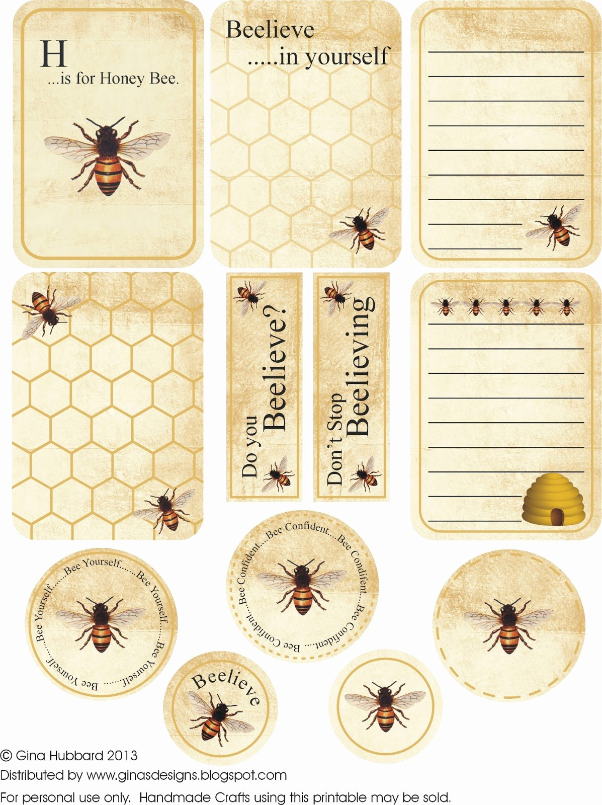 Free Printable Vintage Labels Luxury Ginas Designs Buzzin About Free Bee Friday