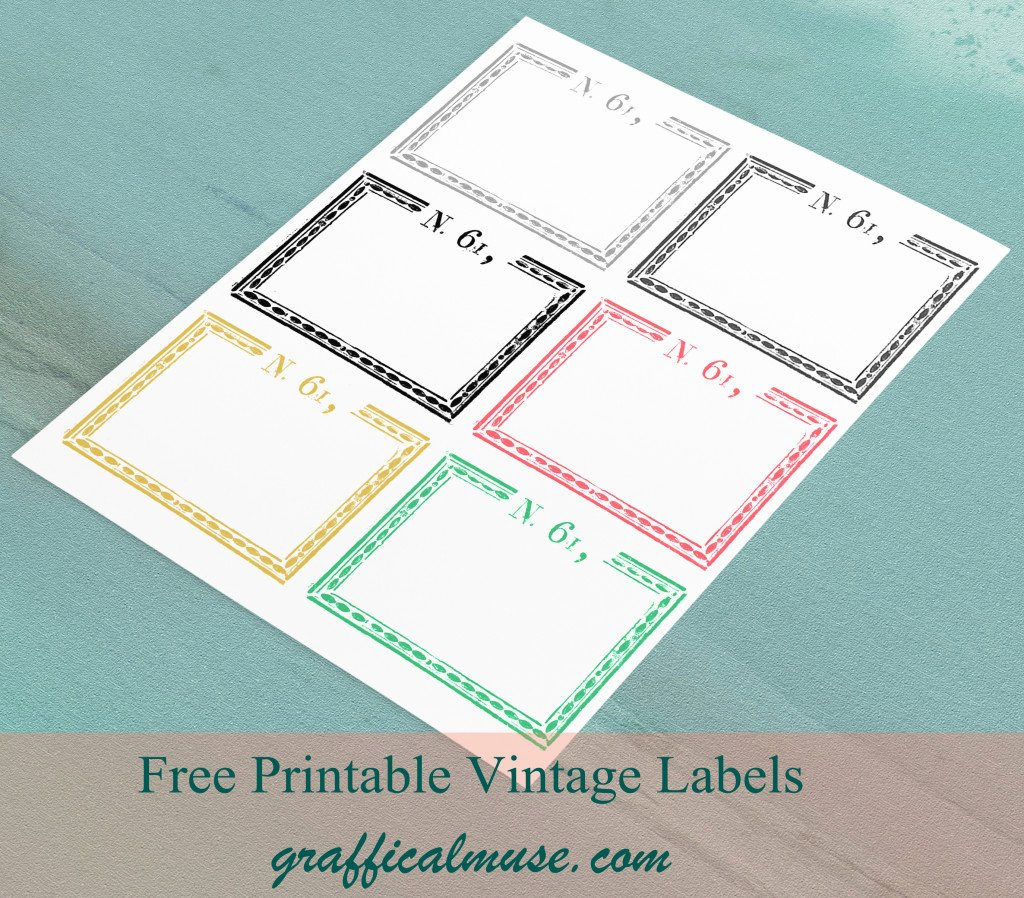 Free Printable Vintage Labels Luxury Vintage Labels Archives the Graffical Muse