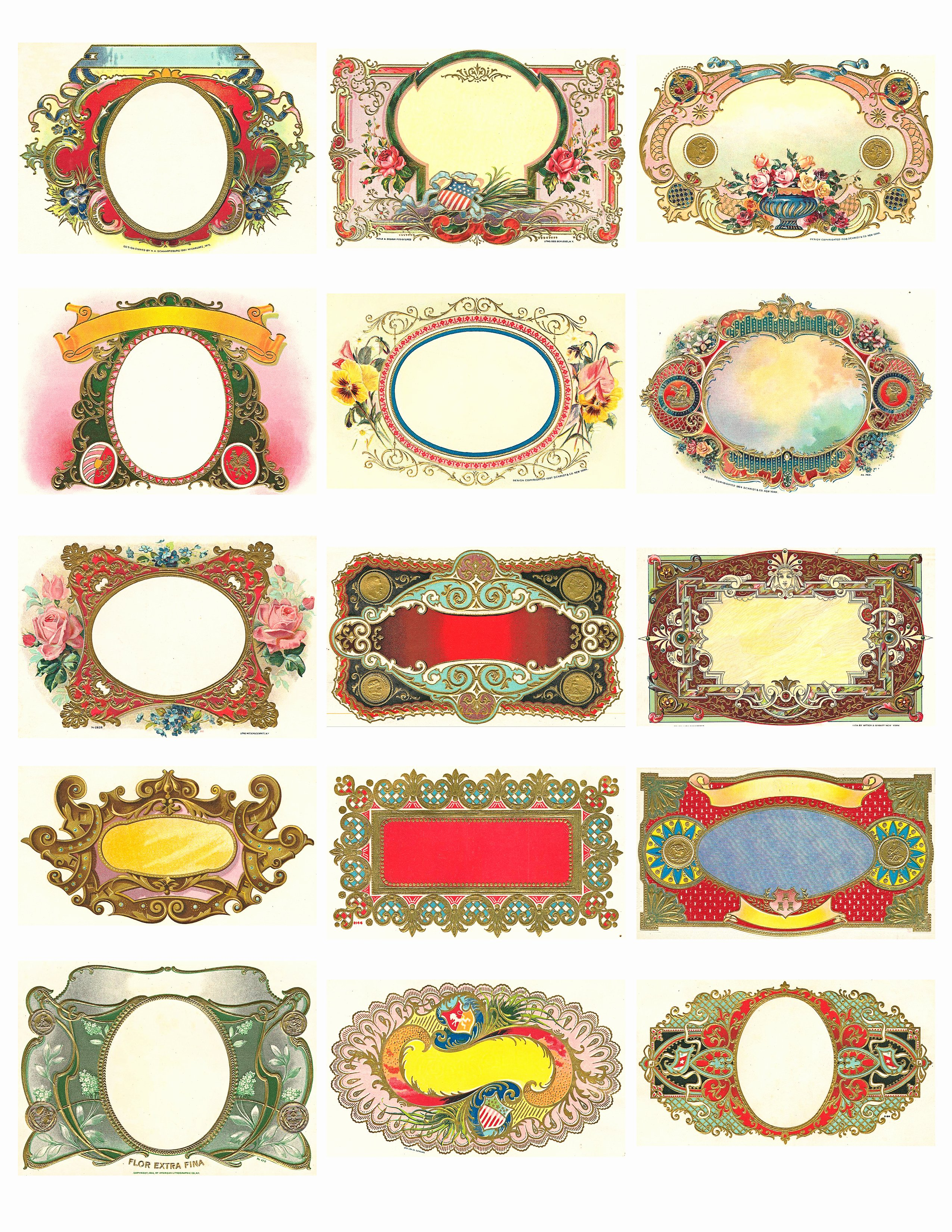 Free Printable Vintage Labels New Free Vintage Labels Graphics Collage Sheet – Avalon Rose