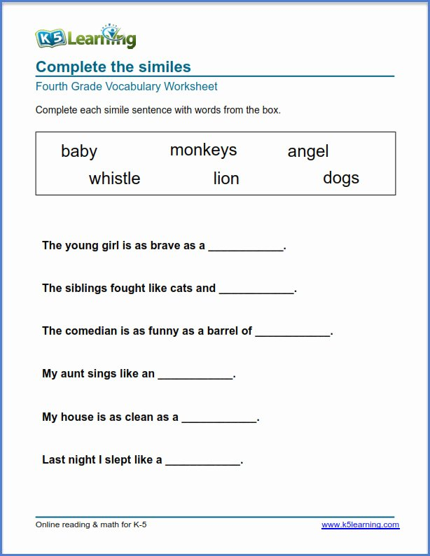 Free Printable Vocabulary Worksheets Best Of Grade 4 Vocabulary Worksheets – Printable and organized by