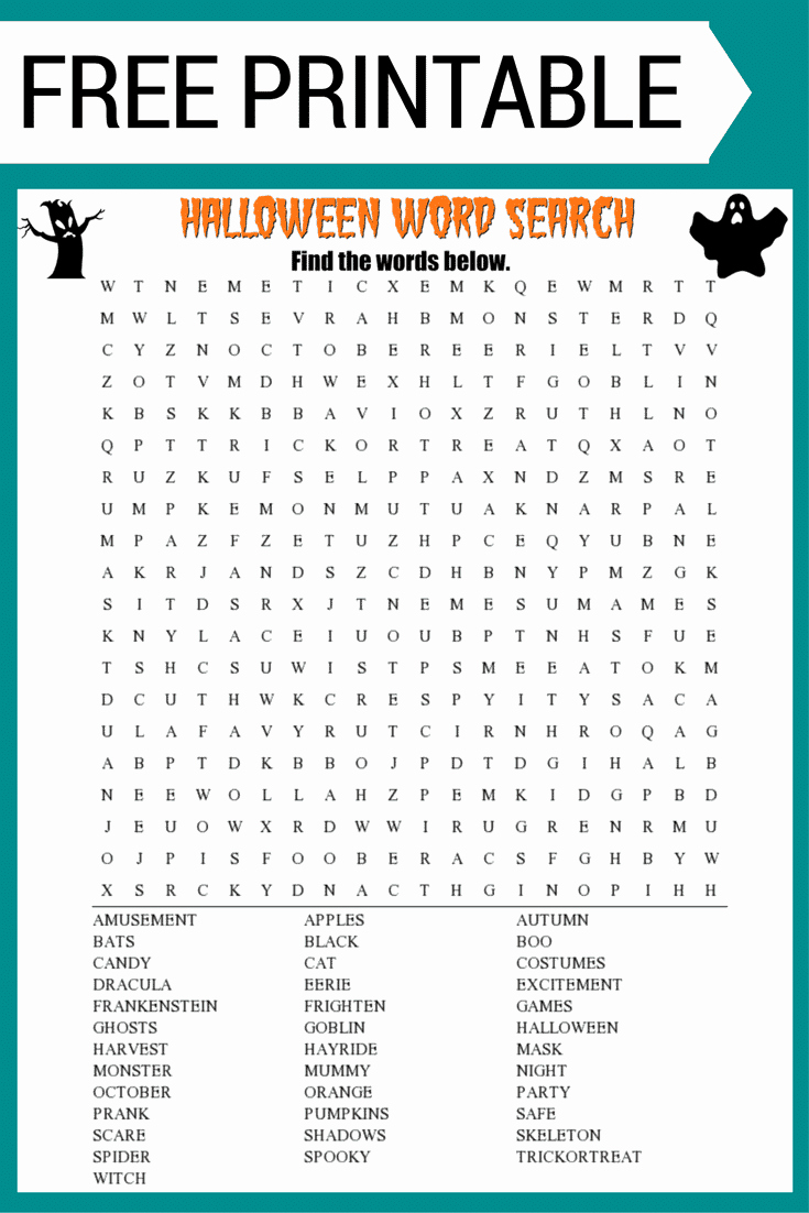 Free Printable Vocabulary Worksheets Best Of Halloween Word Search Printable Worksheet