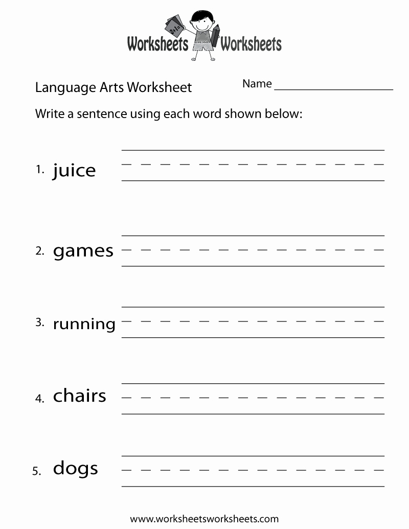 Free Printable Vocabulary Worksheets Lovely English Language Arts Worksheet Free Printable