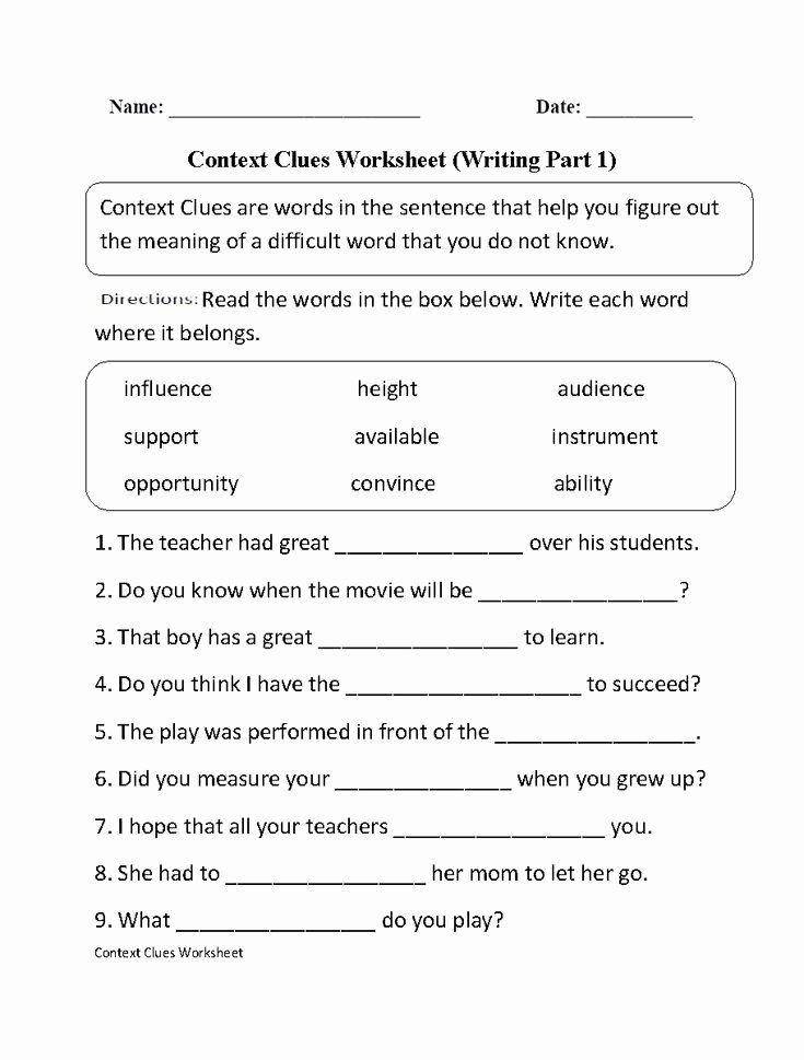 Free Printable Vocabulary Worksheets Luxury Pin On Ela