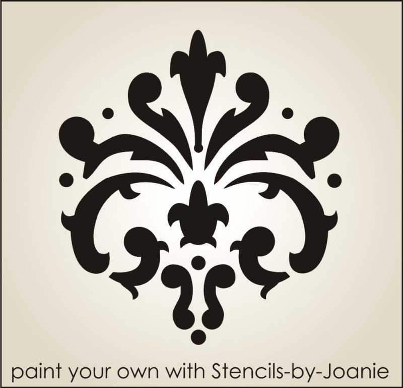 Free Printable Wall Art Stencils Awesome Stencil Fleur Damask Paris French Cottage Chic Wall Art
