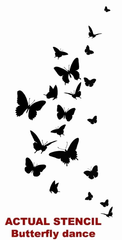 Free Printable Wall Art Stencils Lovely butterfly Stencils Free Printable