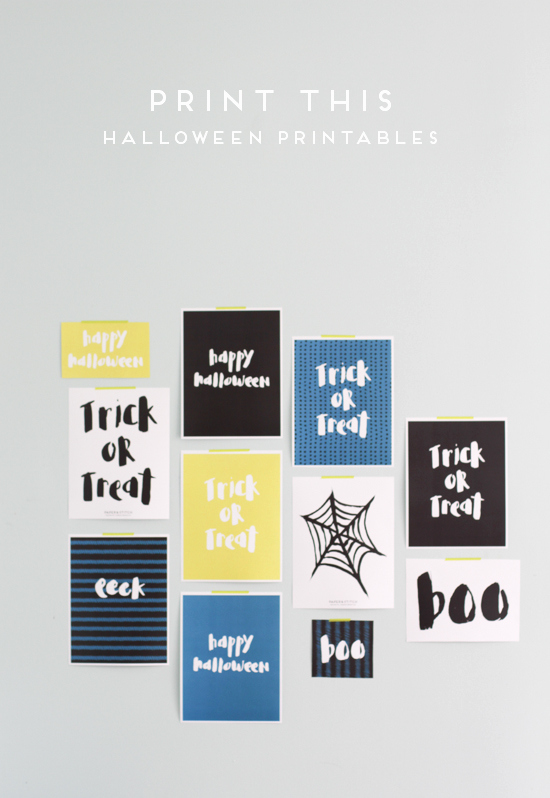 Free Printable Wall Art Stencils New Print This Halloween Wall Art Printables & Stencils for