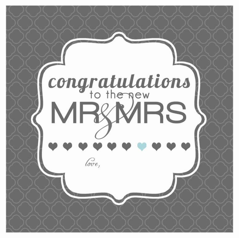 Free Printable Wedding Cards Luxury 10 Free Printable Wedding Cards that Say Congrats
