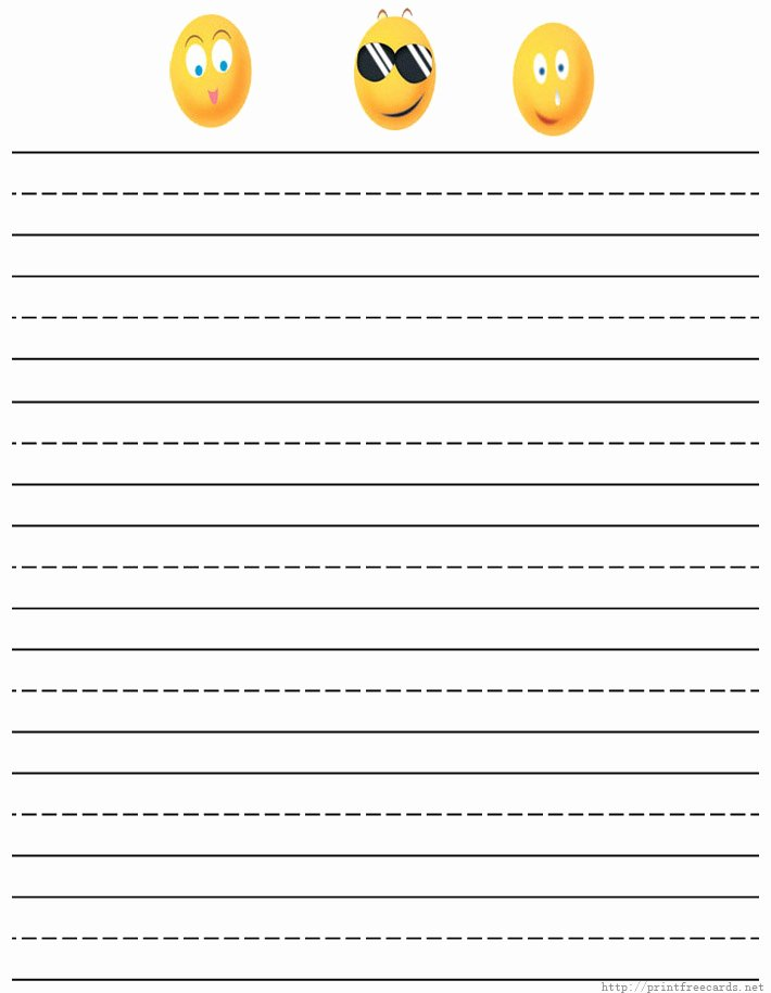 Free Printable Writing Paper Elegant Custom Writing Paper for Preschoolers Stonewall Services