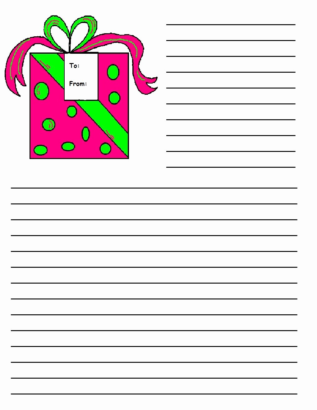 Free Printable Writing Paper Fresh Christmas Printable Writing Paper