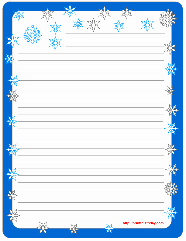 Free Printable Writing Paper Fresh Free Winter Writing Paper