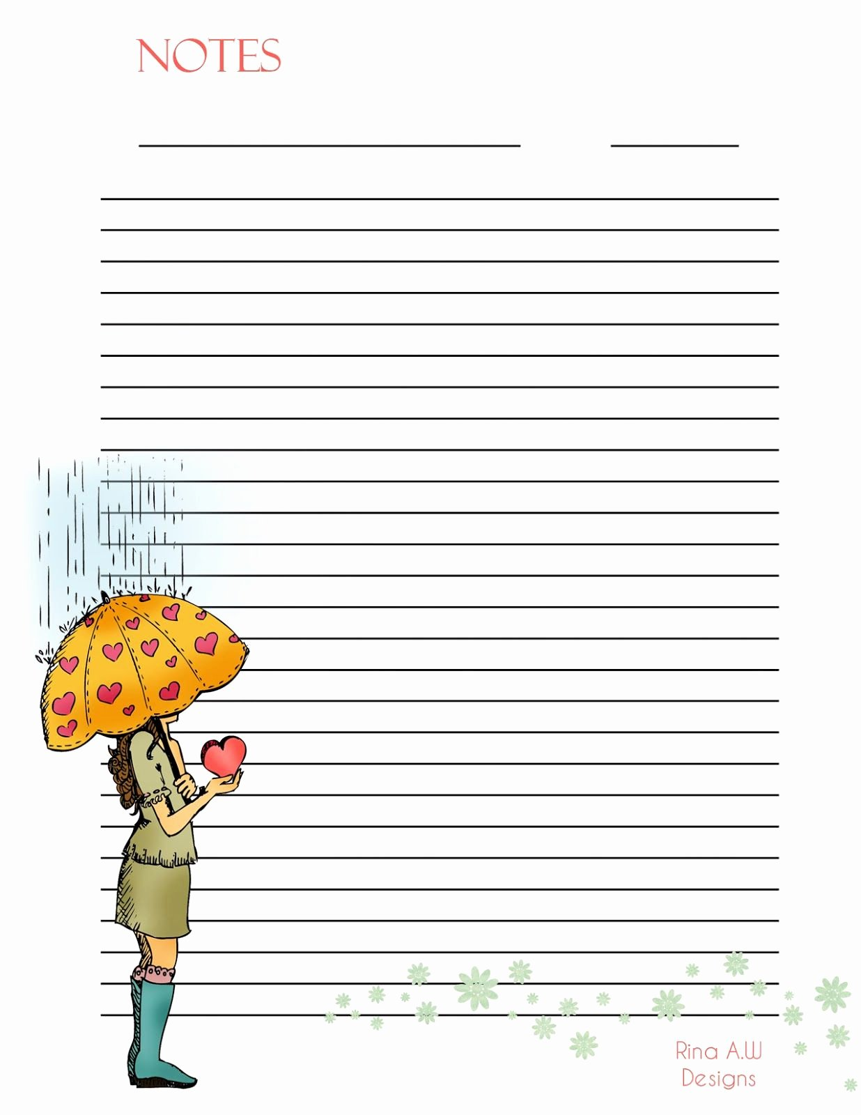 Free Printable Writing Paper Fresh Rina Loves Cute Printable Stationary