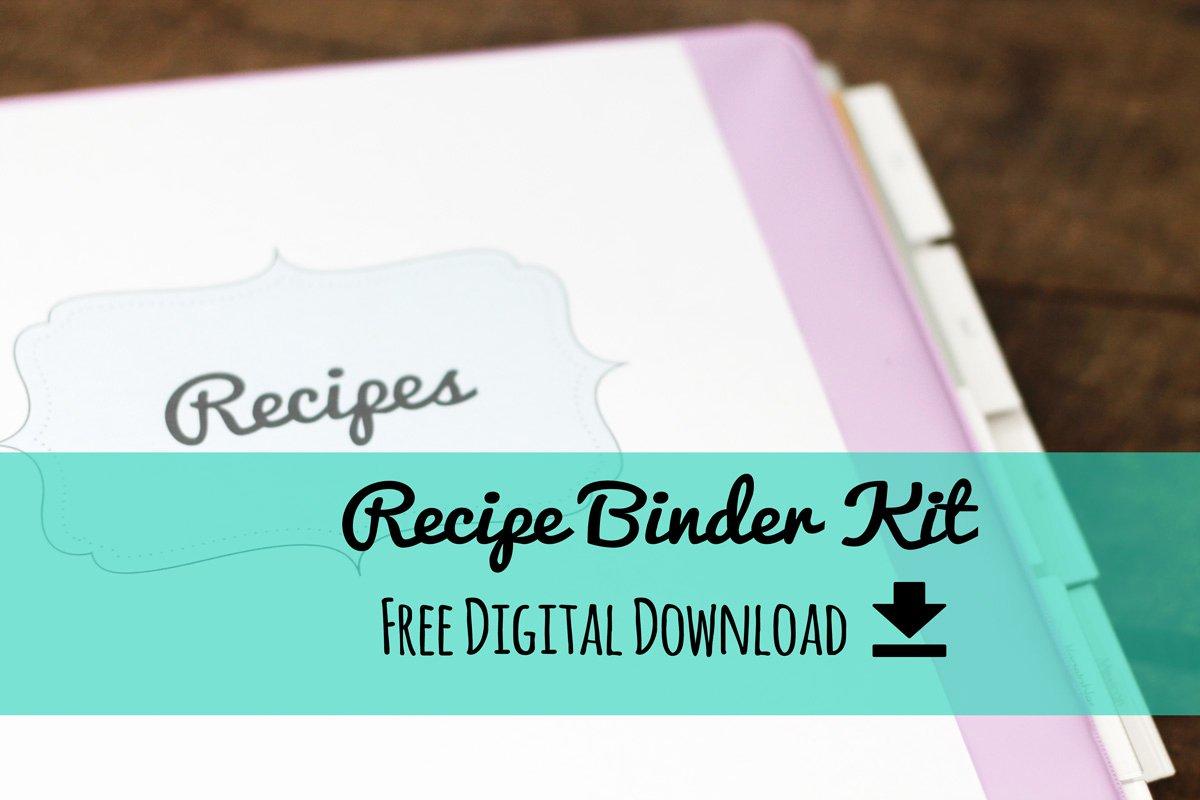 Free Recipe Binder Templates Awesome Erika Brent Sage & Zoo Recipe Binder Kit Free Printable