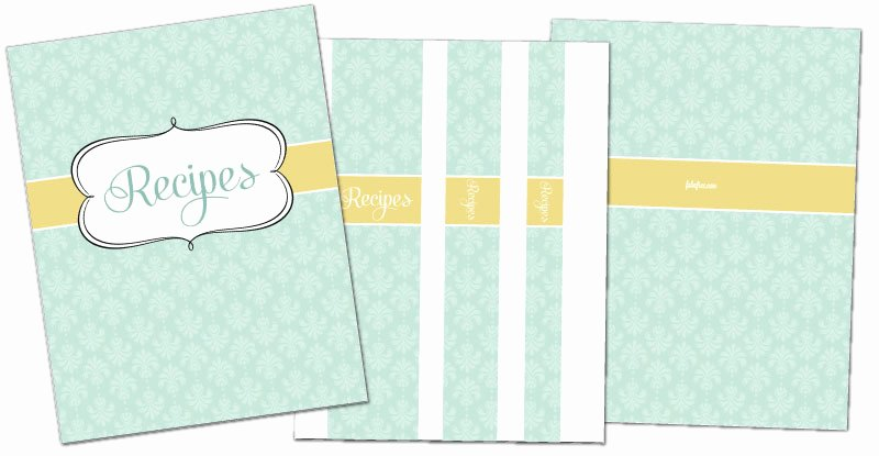 Free Recipe Binder Templates Awesome Free Recipe Binder In 3 Color Options