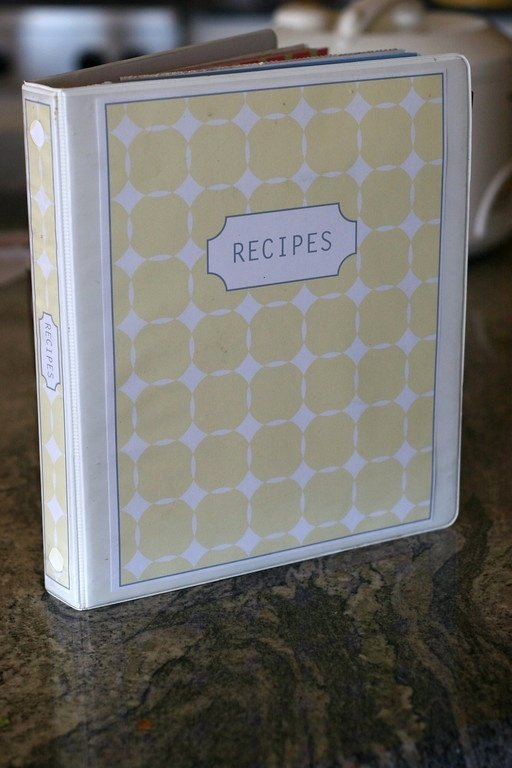 free recipe binder templates to an